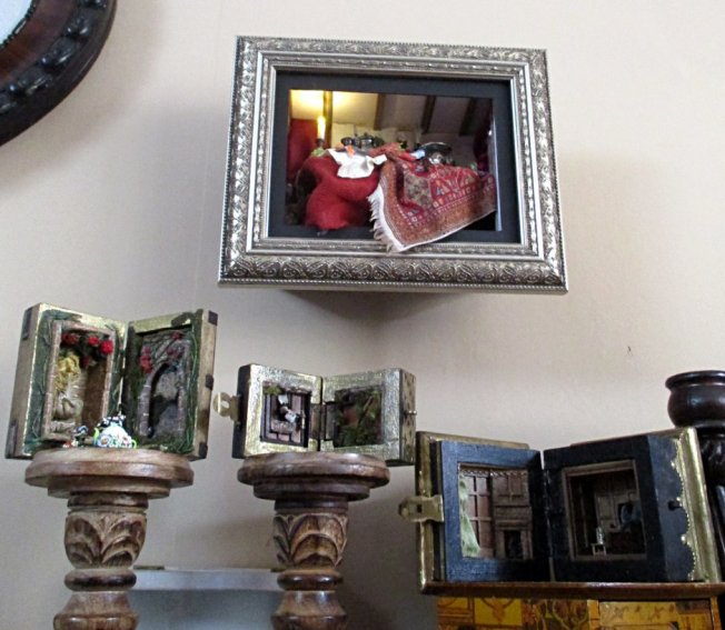 theinfill blog - room boxes, shadow boxes and dioramas - in style of Dutch still life