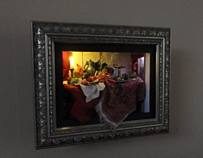 theinfill blog – shadow box used as room box in the style of C17 Dutch Still Life