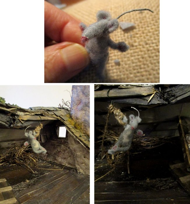 theinfill blog – Clemcold Cottage scratch build eighteenth century scenes - felt mouse
