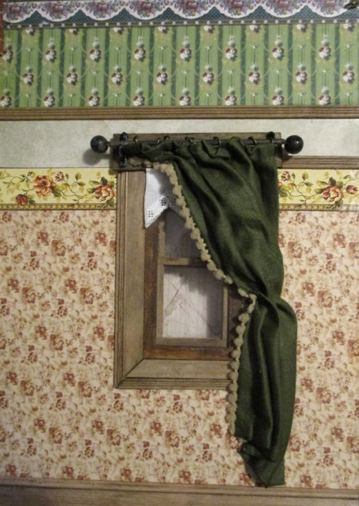 theinfill blog, theinfill dolls house blog – scratch build Victorian and Edwardian scenes, Victoria Villas - household goods, curtains