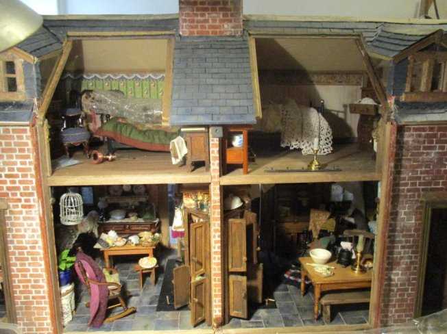 theinfill blog, theinfill dolls house blog – scratch build Victorian and Edwardian scenes, Victoria Villas - bedrooms