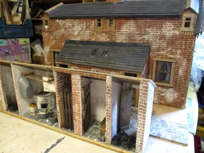 theinfill blog, theinfill dolls house blog – scratch build Victorian and Edwardian scenes, Victoria Villas - outhouses and backyard