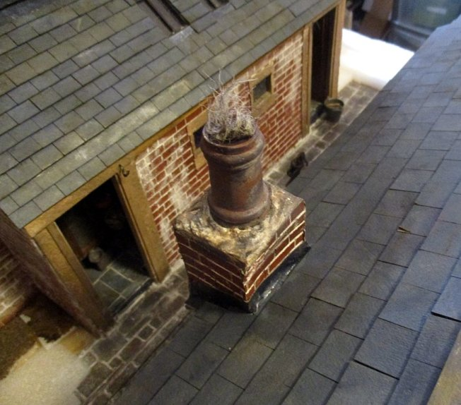 theinfill blog, theinfill dolls house blog – scratch build Victorian and Edwardian scenes, Victoria Villas - outhouses and backyard chimney