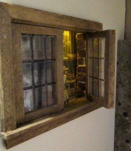 theinfill blog, theinfill dolls house blog – scratch build optical illusion room boxes